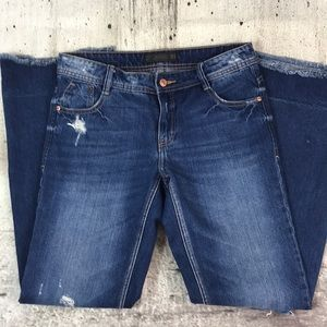 Zara trafaluc disaster flare jeans